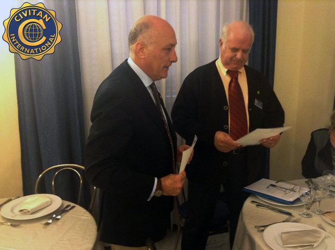 Il Presidente del Club Gianni Rossi e Mr Tor Dahl, Civitan European Coordinator 2014/2016