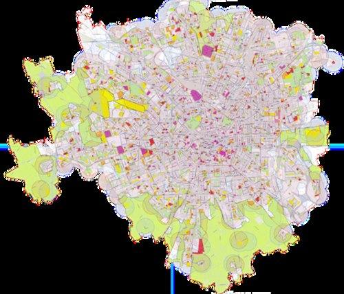 La mappa realizzata da Palazzo Marino