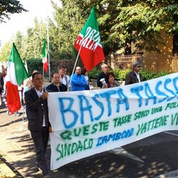 La protesta di Forza Italia