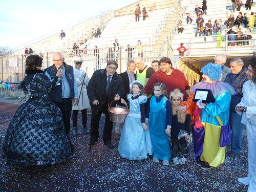La premiazione al Carnevale di Peschiera 2012