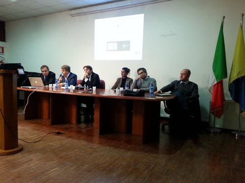 Schieramento Pd, da sinistra: Giove, Ancora, Maran, Mongili, Bussolati e Dalerba
