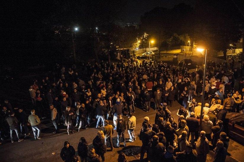 Corteo contro gli immigrati a Tor Sapienza
