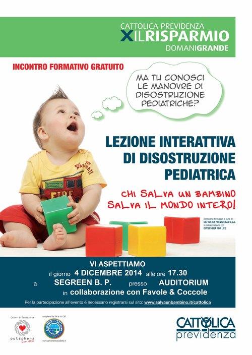 Lezione interattiva di disostruzione pediatrica