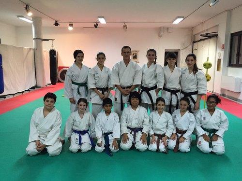 La squadra agonistica della ASD Shorin Karate-Do con il Maestro Vittorio Cappellini