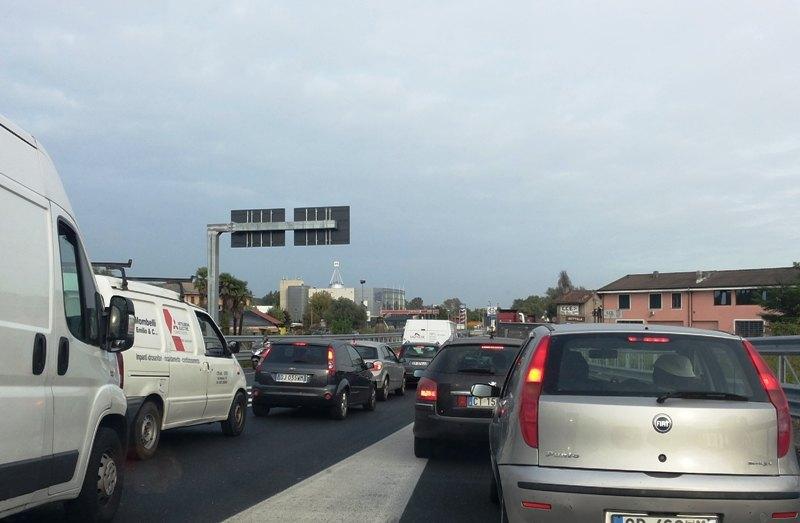 Traffico sulla Paullese