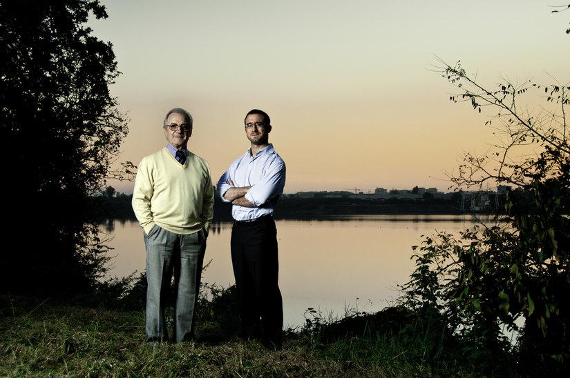 Paolo Micheli con Gianfranco Rosa di Segrate Nostra