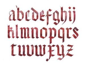 Un esempio di scrittura gotica