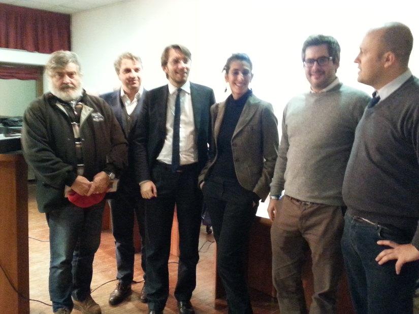 Alcuni consiglieri del Pd segratese con l'assessore Maran e il segretario Bussolati