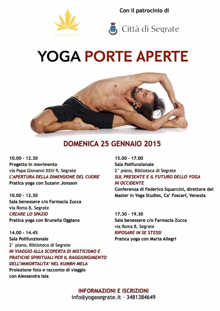 Locandina Yoga Porte Aperte