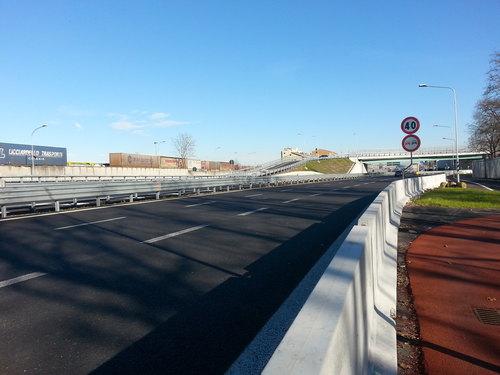 La strada provinciale Rivoltana all'altezza dell'Intermodale