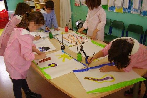 I piccoli alunni di una scuola dell'infanzia