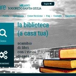 La home page del sito di biblioShare
