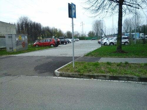 Il parcheggio di via Carducci
