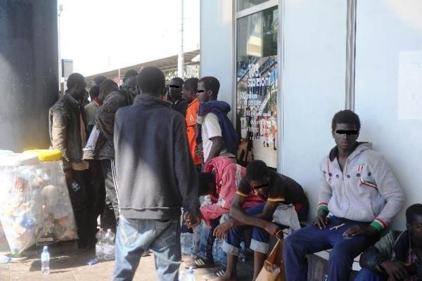 Un gruppo di profughi