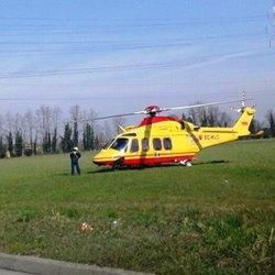 L'elisoccorso atterrato a San Giuliano