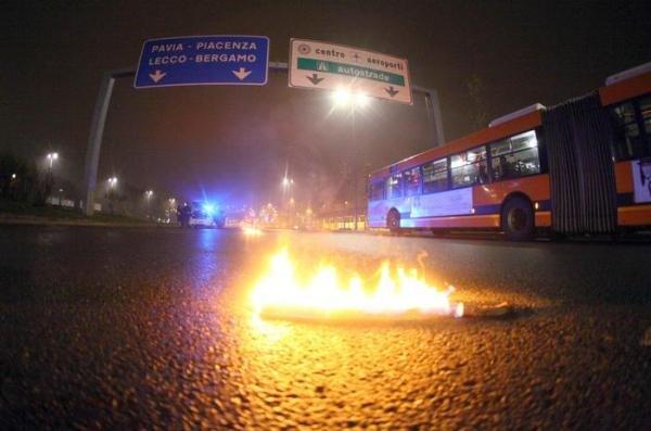 Il luogo dell'incidente in viale Famagosta