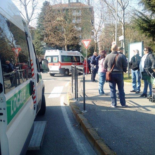 L'incidente di via Matteotti angolo via Moro