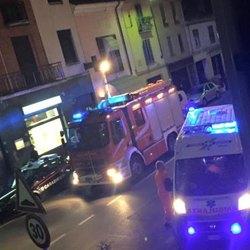 I soccorsi giunti in via Dezza