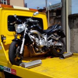 La moto sequestrata