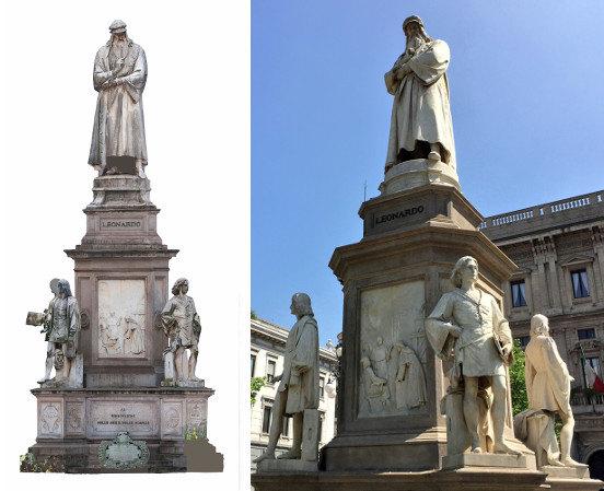 Il monumento a Leonardo