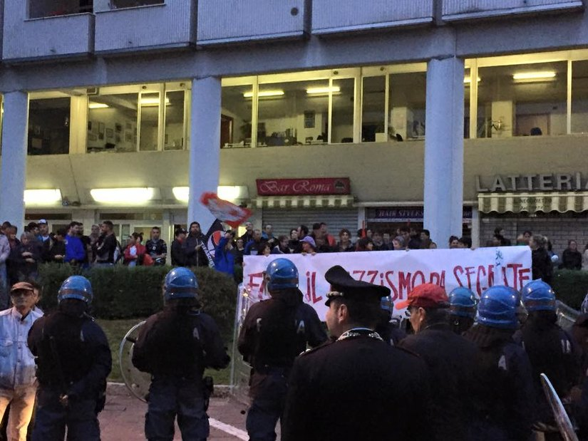 L'assedio dei manifestanti