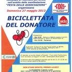 Il volantino con il programma della biciclettata del donatore