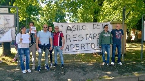 Il Comitato Genitori in protesta