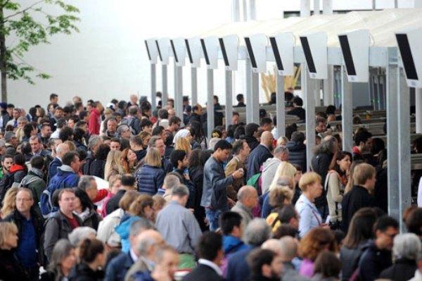 Code ai cancelli di Expo 2015