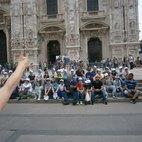 La foto ricordo in piazza del Duomo