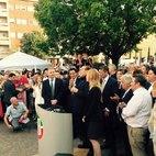 Il Sindaco  uscente Alessandrini con Berlusconi e Fraschini