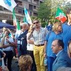 Al microfono Filippo Ferrante candidato Sindaco di Corsico
