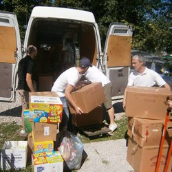 Il carico degli aiuti