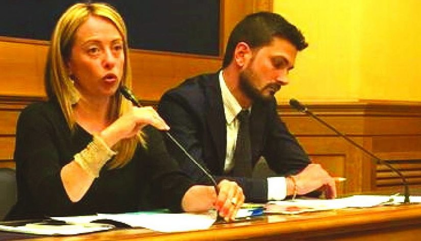 Giorgia Meloni con Guido Reggiani