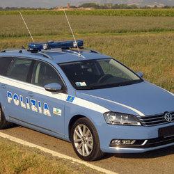 La Passat Volkswagen della Polizia