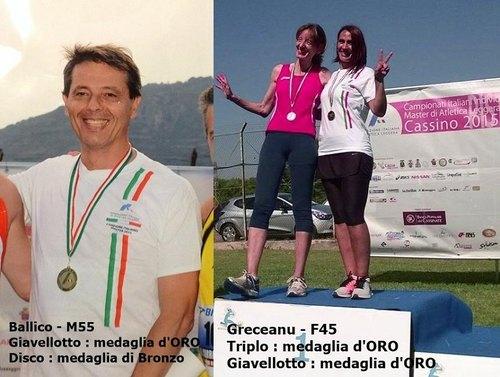 Giancarlo Ballico e Nely Graceanu premiati con l'oro