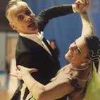 Paolo e Marina sulla pista da ballo