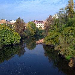 Il fiume Lambro a Melegnano