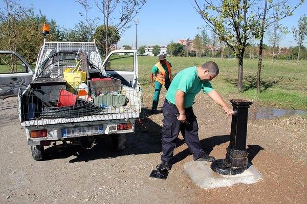 La nuova fontanella al Centroparco