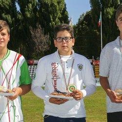 Al centro: Riccardo Gottardini oro nel Tiro alla Targa