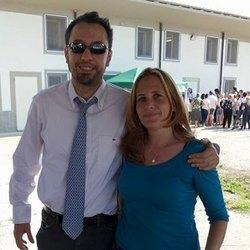Vera Cocucci, ex Assessore alla Cultura di Mediglia e il presidente della Fiba, Gianluca Comazzi
