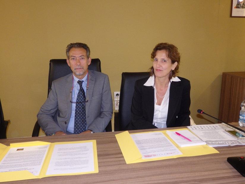 Claudio Veneziano - sindaco di Pantigliate e Marialuisa  Ravarini - presidente dell'Osservatorio