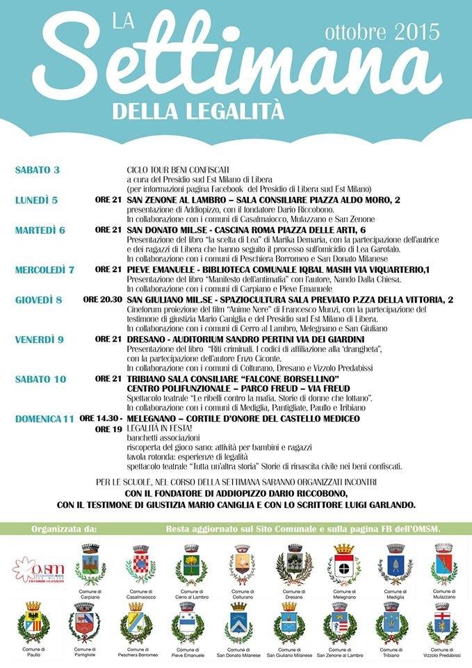 Il programma completo dell'evento