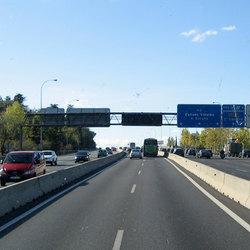 La corsia per il carpooling di Madrid