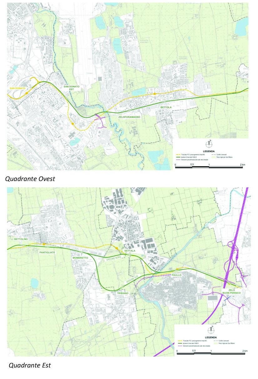 Il tracciato della Bus Via in Verde