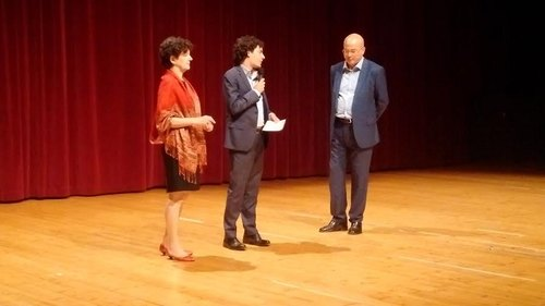 Il Sindaco Zambon introduce Aldo Cazzullo al Teatro De Sica