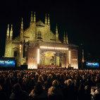 Piazza del Duomo durante un concerto