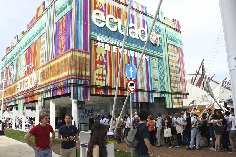Il padiglione dell'Ecuador