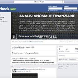 La pagina Facebook dell'evento del 27 ottobre 2015