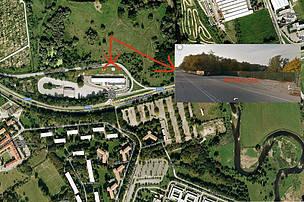 Vista aerea della zona interessata dai progetti