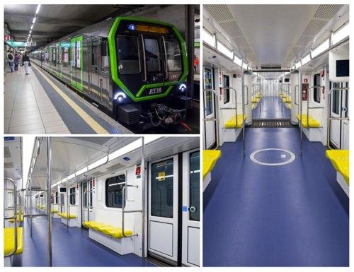 il nuovo treno Leonardo per la M2